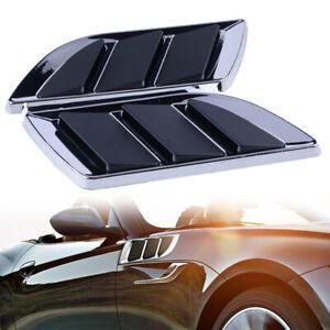 Lado-del-coche-negro-cromo-cubierta-de-ventilacion-de-flujo-de-aire-de-la-ingesta-de-Fender-Rejilla