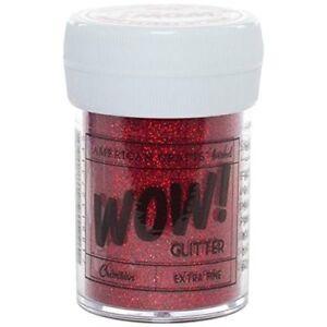 American Crafts Glitter, Extra Fine Crimson