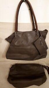 Damentasche-MAESTRO-SET-aus-3-Taschen-Damen-Frauen-Leder-Ledertasche-NEUWERTIG