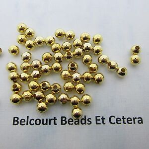 500-Gold-Plated-5mm-Brass-Beads-Highly-Polished-Round-Beads-110-Grams-Approx