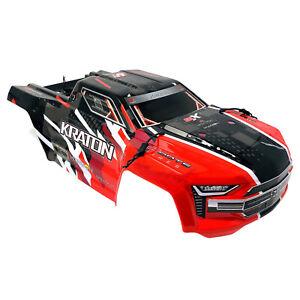 Arrma Kraton V4 2019 Rouge/Noir Body Shell Carrosserie W decals 6 S ARA406156 nouveau