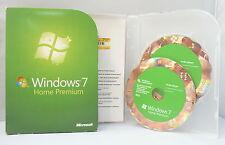Microsoft Windows 7 Home Premium - Retail/Box-Vollversion mit DVD - 32+64 Bit -