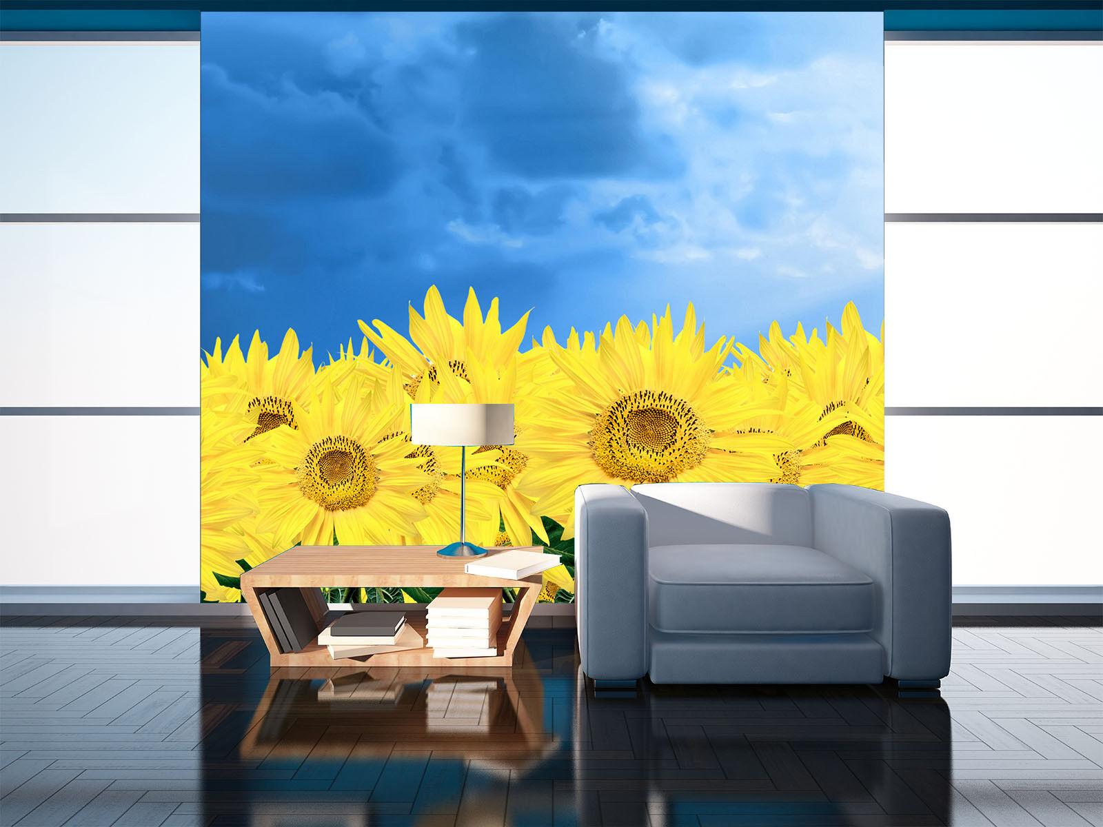 3D Sunflowers 554 Wallpaper Murals Wall Print Wallpaper Mural AJ WALL AU Kyra