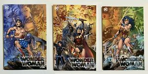 DC-Comics-Wonder-Woman-750-Jim-Lee-Covers-A-B-amp-C-Torpedo-Variant-w-Box