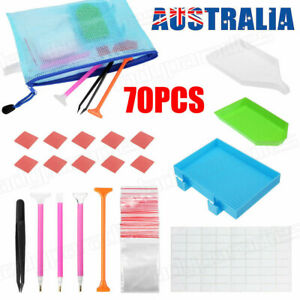 70x 5d Diamond Painting Tools Embroidery Kit Art Accessories Pen With ZIPPER Bag