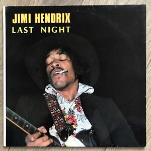 Jimi Hendrix - Last Night - 1981 Suisse/Allemand 10-track Rare Vinyle LP Ex / NM