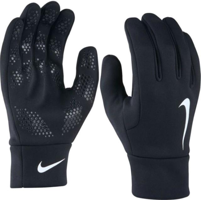 Nike Air Junior Boys Warm Winter Hyperwarm Training Football Gloves Grey Black