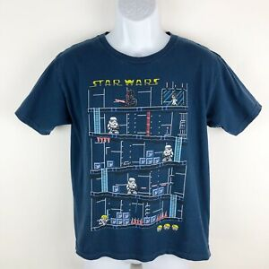 Star-Wars-Boys-T-Shirt-Size-XL-Youth-Blue-Video-Game-Short-Sleeve-Tee