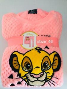 Ladies Fleece Pyjamas DISNEY THE LION KING SIMBA Women/'s Winter PJs 6-20 Primark