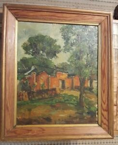 NICE-Signed-amp-Framed-Oil-On-Board-Dated-1935-21-x-25