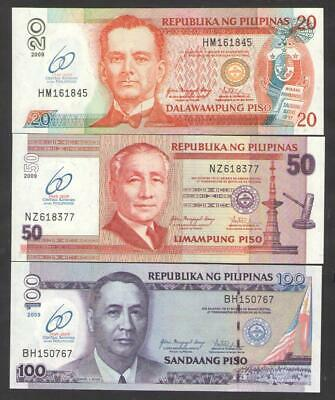 60th Central Bank Unc 2009 P-200 Comm Philippines 20 Piso