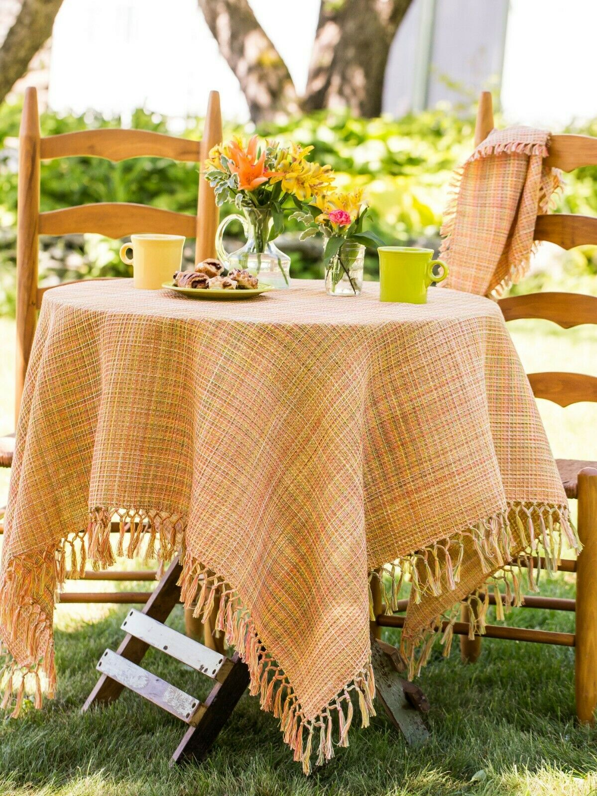 April Cornell Nappe Misty Island collection 60x90 Neuf avec étiquettes 100% coton