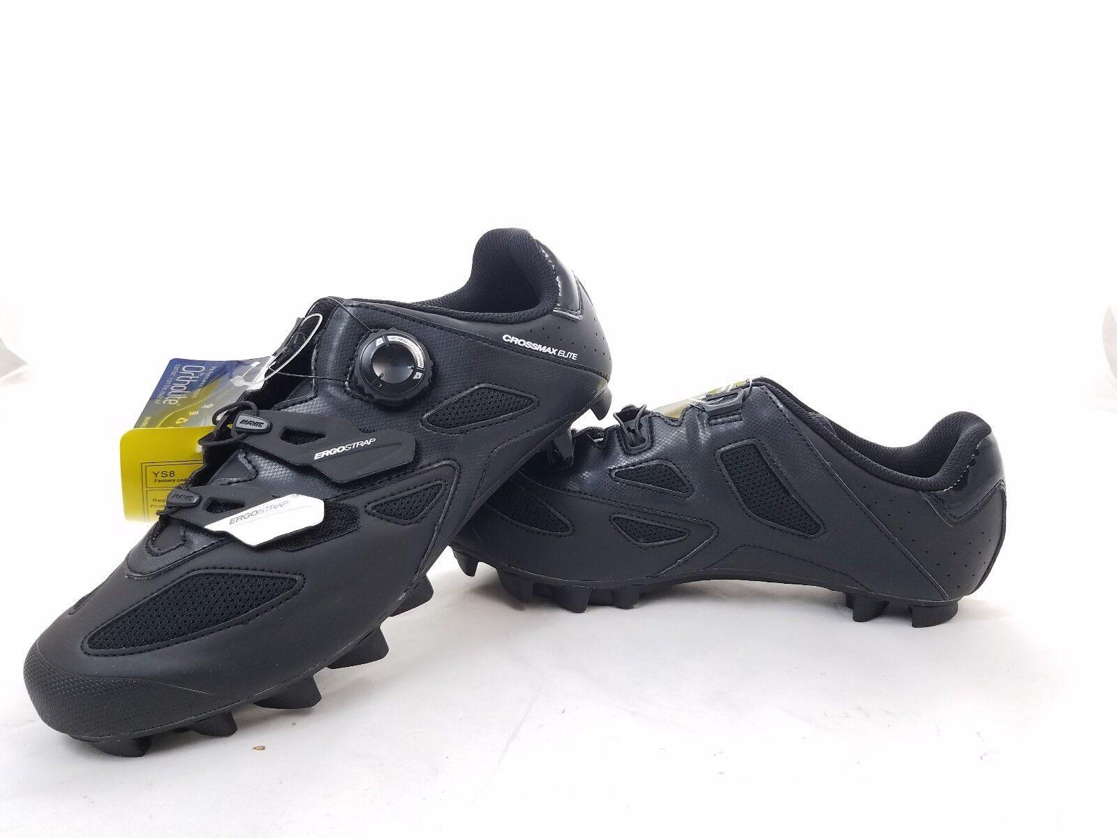 Mavic Crossmax Elite Mountain Bike zapatos para hombre SPD Tamaño 9 Negro blancoo