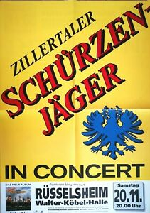 ZILLERTALER-SCHURZENJAGER-1993-TOUR-orig-Concert-Poster-Plakat-F-U-1209
