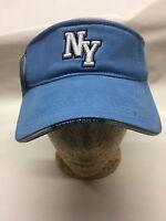 York Sun Visor Hat Blue Adhesive Strap