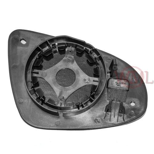 Pasajero lado izquierdo climatizada ala Puerta Plata Cristal de espejo con base placa # c-shy//l-jpgce98/ Clip On