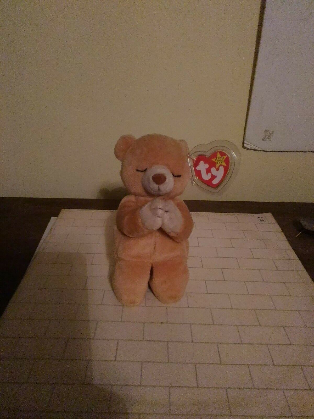Ty Beanie Baby Hope Bear 1999 Excellent Condition