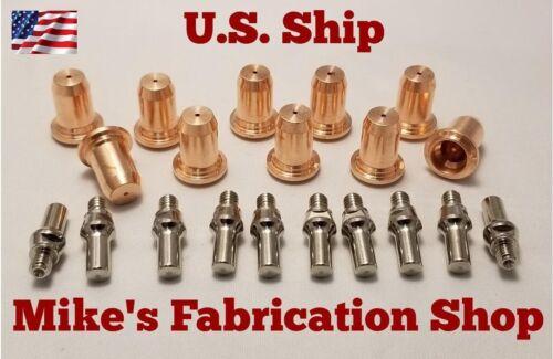 20 Piecs electrodes /& nozzle Chicago Electric plasma cutter 62204  IPT-40 torch
