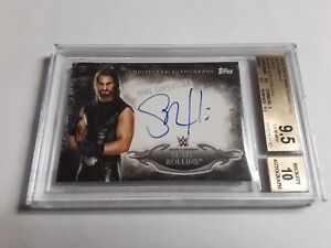 2015-Topps-WWE-Undisputed-Seth-Rollins-Autograph-Card-23-50-BGS-9-5-Auto-10-ROH