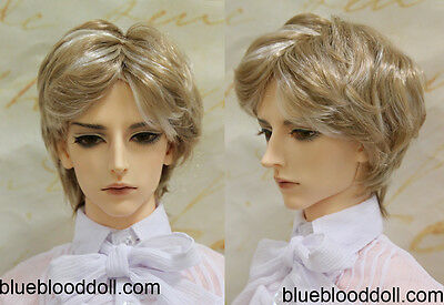 "1//3 bjd 9-10/"" doll head copper brown wig dollfie Soom ID Feeple Pullip W-JD243XL"