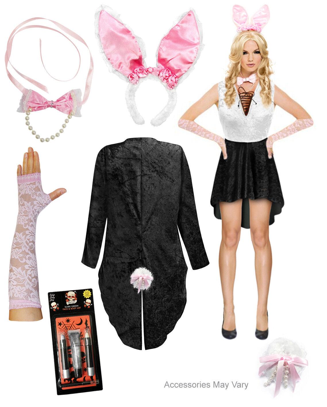 Sexy Plus Taille Playboy Bunny Costume grand XL 1x 2x 3x 4x 5x 6x 7x 8x 9x