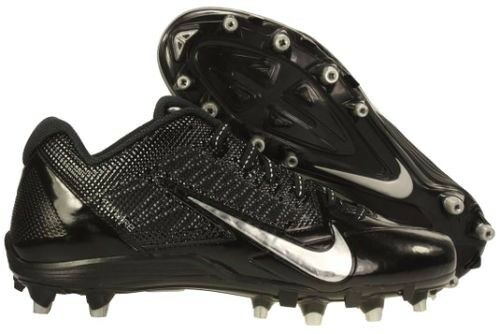 384be35cff82 NIKE men Alpha Pro TD FOOTBALL CLEATS Flywire Shoes 579545002 Black Silver  sz 15