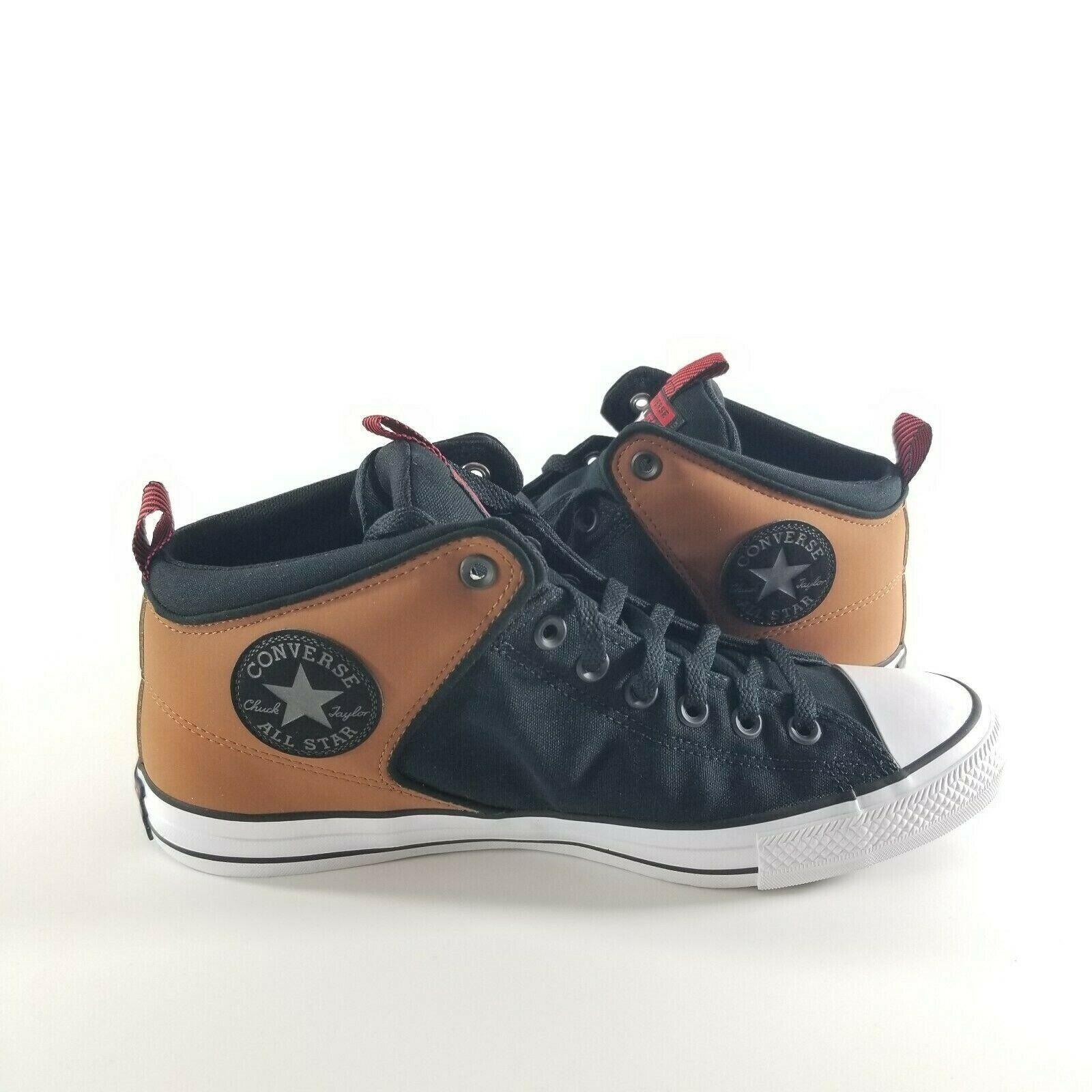 NEW Converse CTAS High Street Mid Unisex Size Shoes Black/White/Tan 166077C