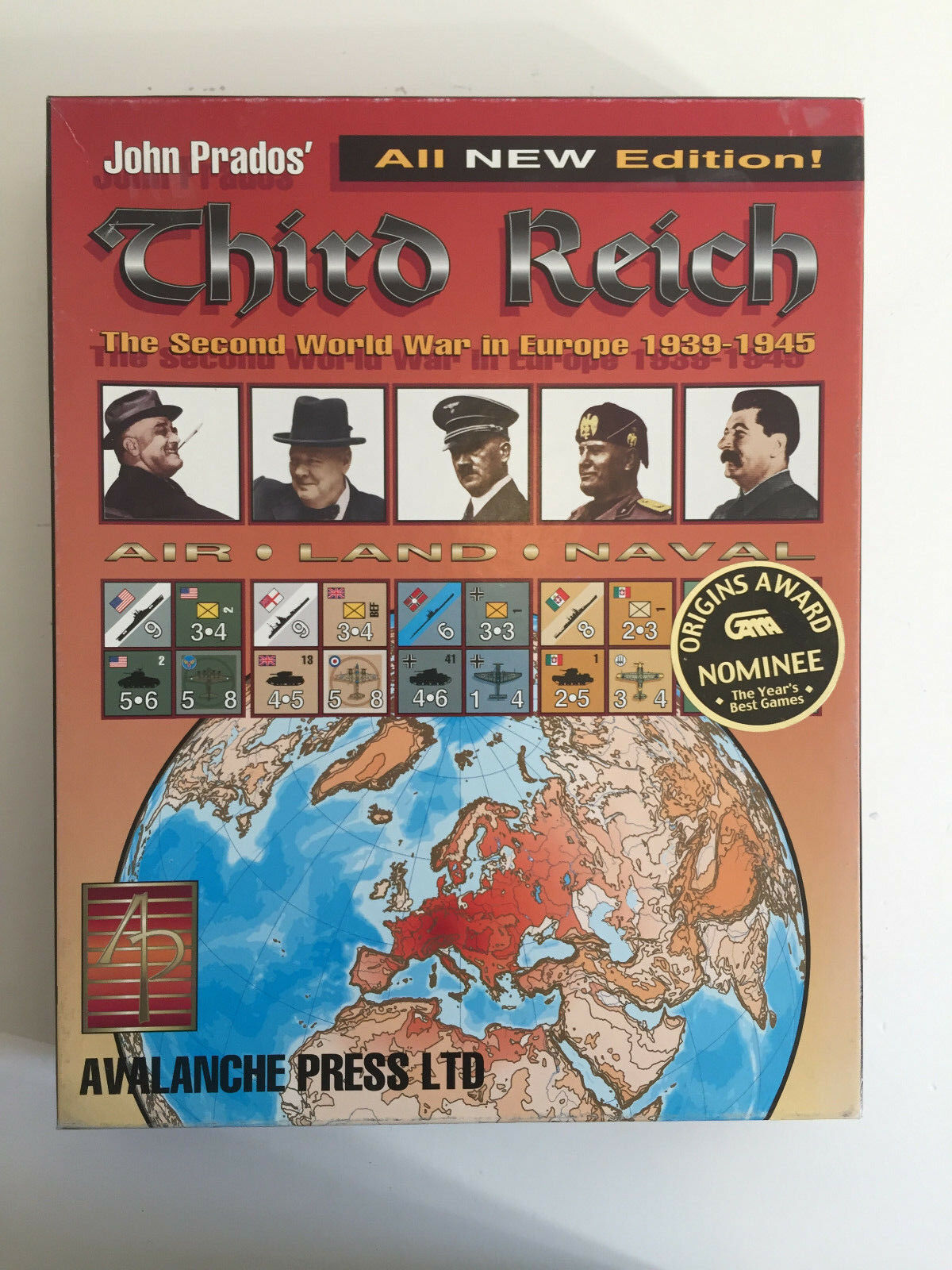 Third Reich all new edition John Prados WW II Avalanche Press Ltd RAR en RARO