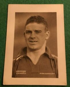Details about SHERMAN POOLS FAMOUS FOOTBALL PLAYERS 1937 GEORGE CAMSELL  MIDDLESBROUGH MM98
