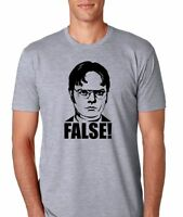 The Office dwight Schrute False Mens Athletic Fit T-shirt
