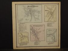 New York, St. Lawrence County Map,Brasher Falls, Morley, Helena 1865  Y5#36
