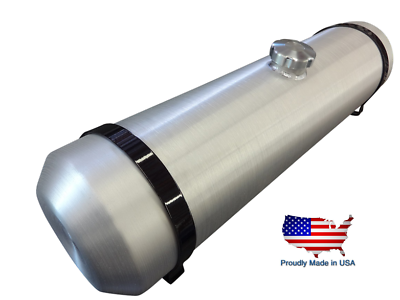 8x30 End Fill Spun Aluminum Gas Tank with Top 1//4 NPT Bung for Return or Vent