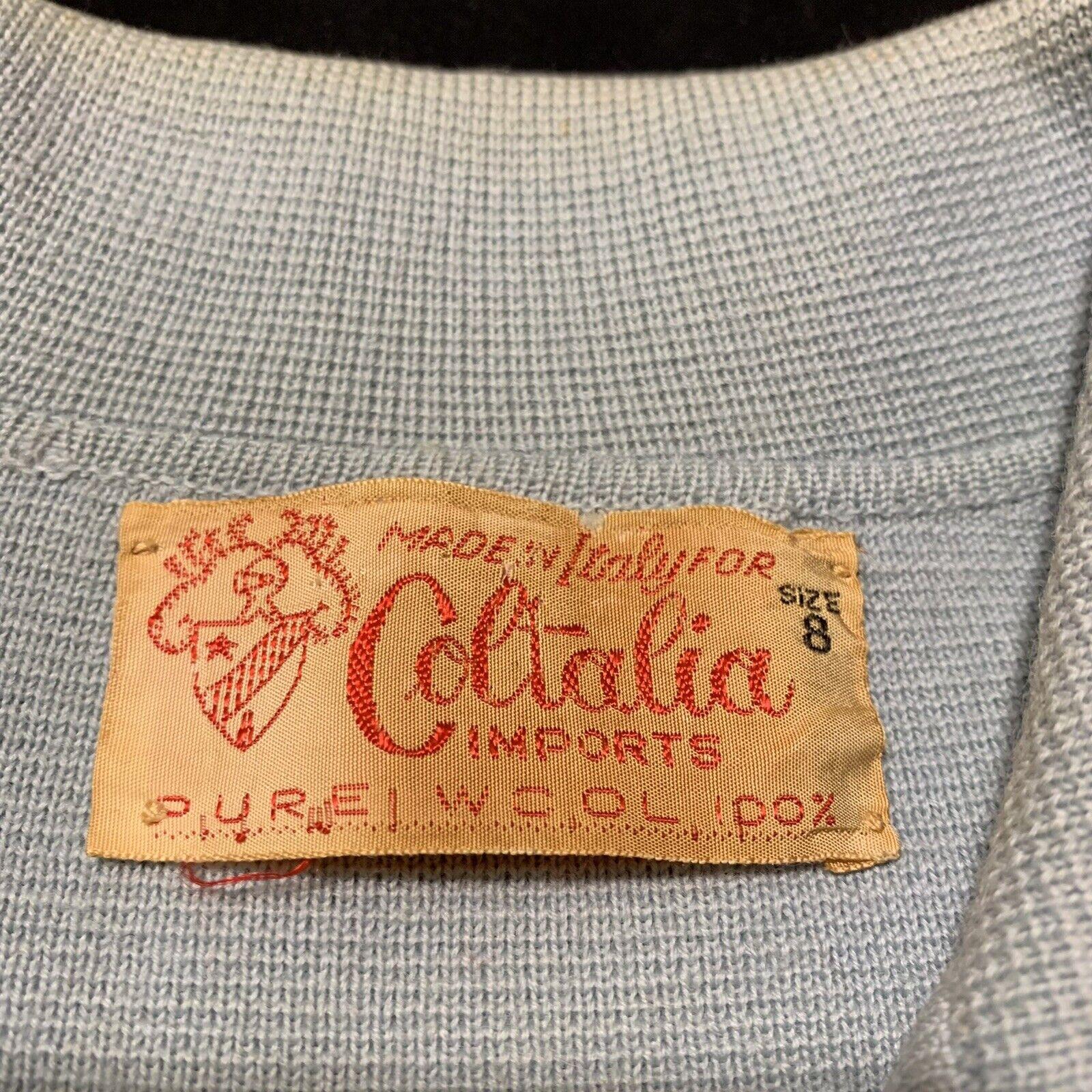 Vintage Coltalia Italy Wool Open Blazer Skirt Sui… - image 2