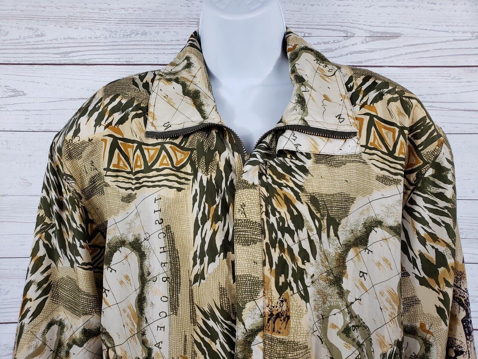Coaco 100% Silk Small Jacket Multi Color Full Zip… - image 4
