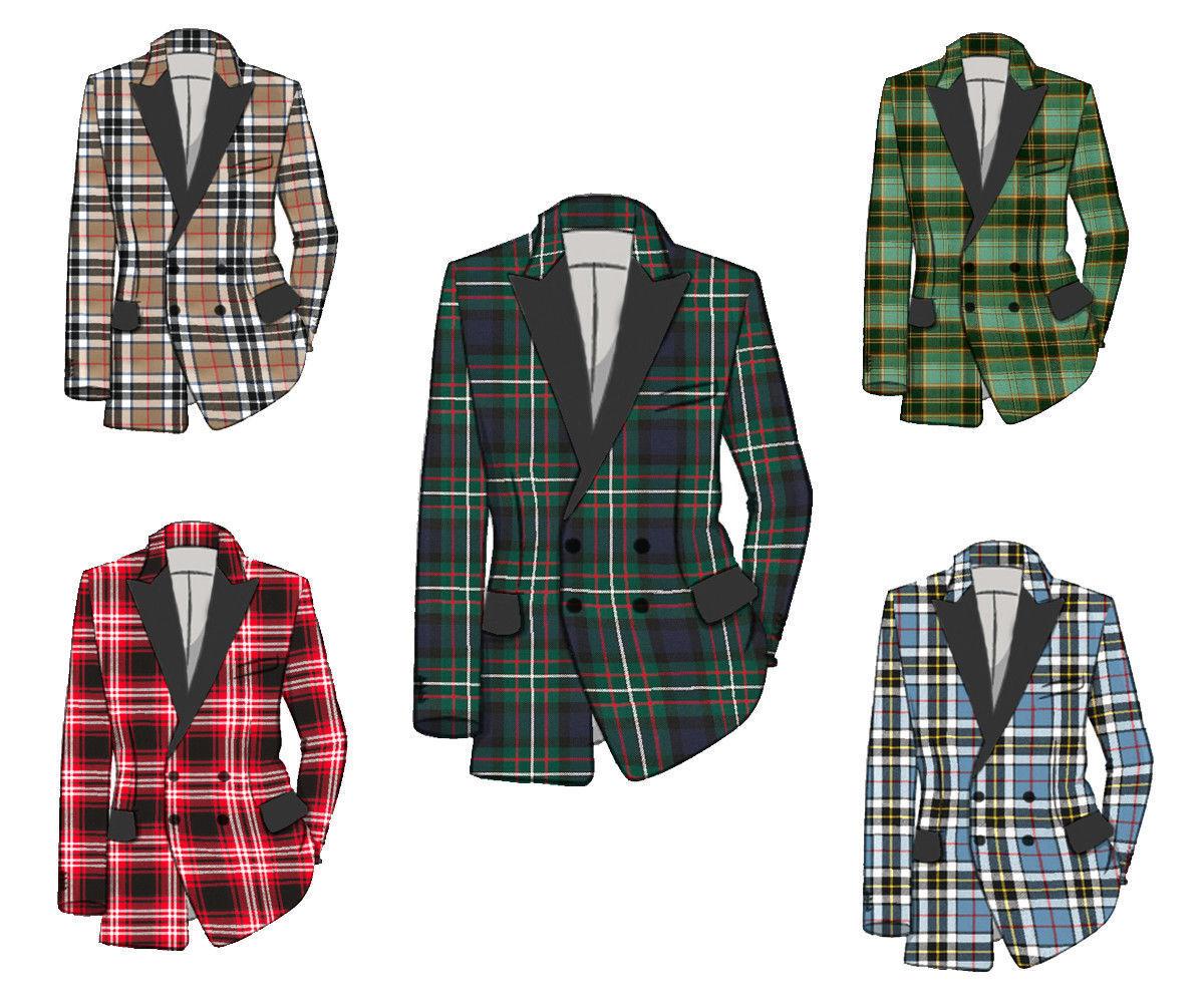 """Para Hombre escocés Tartan  lana cena chaqueta de doble botonadura"""" 16 OZ"""" - tamaños& 039; 38-54& 039;  online al mejor precio"""