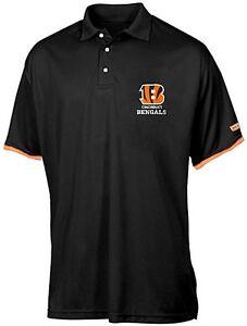Cincinnati-Bengals-NFL-Mens-Cotton-Polo-Golf-Shirt-Black-Big-amp-Tall-Sizes