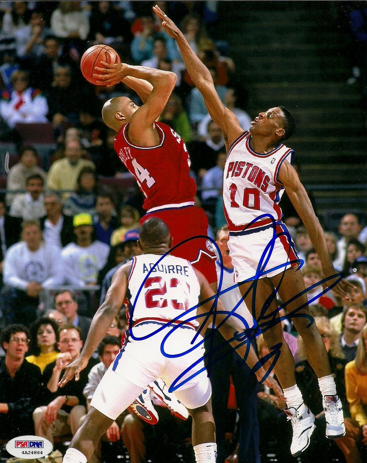 Dennis rodhomme signed pistons 8x10 photo psa dna coa autographed charles barkley