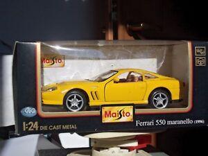 Maisto-scala-1-24-Ferrari-Edition-Special-550-Maranello-giallo-MB