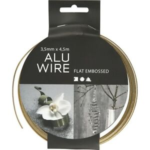 4.5m Aluminium Wire for Crafts Green 3.5mm Flat Textured