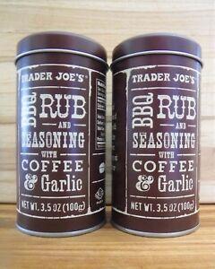 2-Pack! Trader Joe's BBQ Rub and Seasoning with Coffee and Garlic, 3.5 oz Joes   eBay