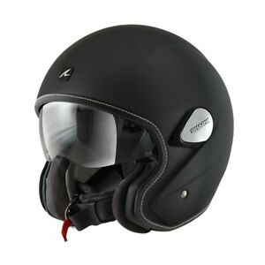 SHARK NANO BLACK MOTORCYCLE MOTORBIKE OPEN FACE SCOOTER URBAN HELMET SUNVISOR