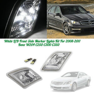 Error Free LED Bulb Fits for Mercedes Benz W204 C250 C300 C63 AMG Euro Clear Side Marker Lamp Light