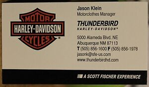 Thunderbird Albuquerque New Mexico Motorcycles Business Card Harley