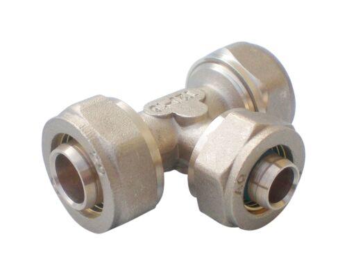 Klemmring Schraubfitting für Mehrschichtverbundrohr T-Stück reduziert 20-16-20