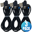 3Pack-3Ft-6Ft-90-Degree-Fast-USB-Type-C-Samsung-Charger-Charging-Cable-Cord-Lot miniature 1