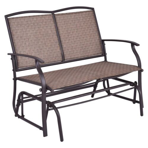 Garden Retro Glider Cosy Loveseat Rest Bench Rocking 2People Chair Furniture