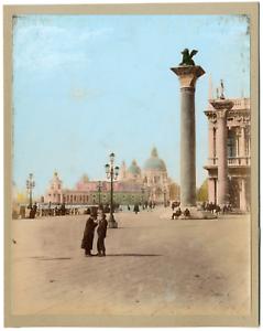 Italia-Venezia-Piazza-San-Marco-Vintage-print-Italie-Tirage-albumine-aquare