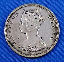 1872/62 H Hong Kong 10 Cents Error Silver Coin