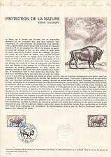FRANCE CEF 1974 BISON WISENT ERSTTAGSBLATT SAMMELBLATT DOCUMENT z1525