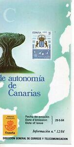 Espana-Estatuto-de-Autonomia-de-Canarias-ano-1984-DO-299